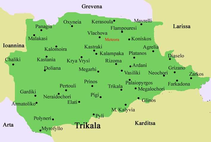 Meteora Klöster Karte.Meteora Kloster
