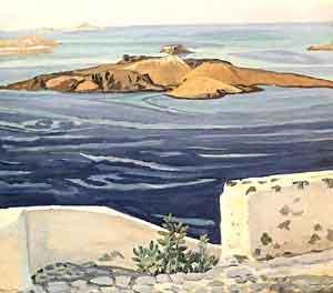 Santorini arrasada