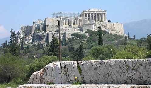 Colina Pnyx: lugar de encuentro de las asambleas de ciudadanos en la antigua democracia griega.