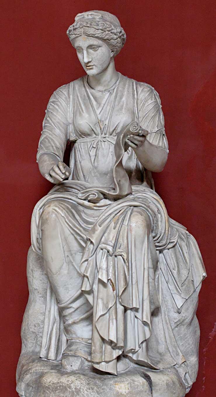 Klio, Pio Clementino, Inv 291